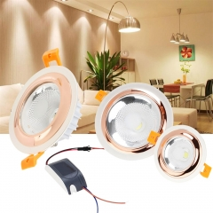 4PCS Ranpo Recessed LED Ceiling Light Fixture Downlight 3W 5W 10W 12W Lamps 110W Equivalent 85V -265V