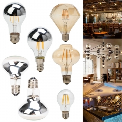 4 PCS Ranpo E27 E14 220V Vintage Retro Edison LED Filament Light Bulb home decor Lamp Bright