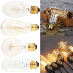 6PCS Ranpo  E27 220V 40W Vintage Retro Filament Light Bulbs Industrial Style Edison Lamp