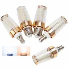 3×E14 Ranpo E27 Chandelier 2835 SMD LED Corn Candle Lights Bulb 12W 110V 220V Warm Lamps