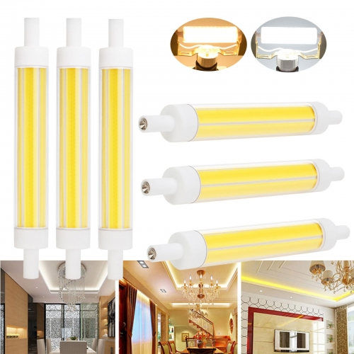 2PCS RP0389 R7s COB Ceramic Bulbs Lights 15W J118 Dimmable Replace Halogen Floodlight Lamps