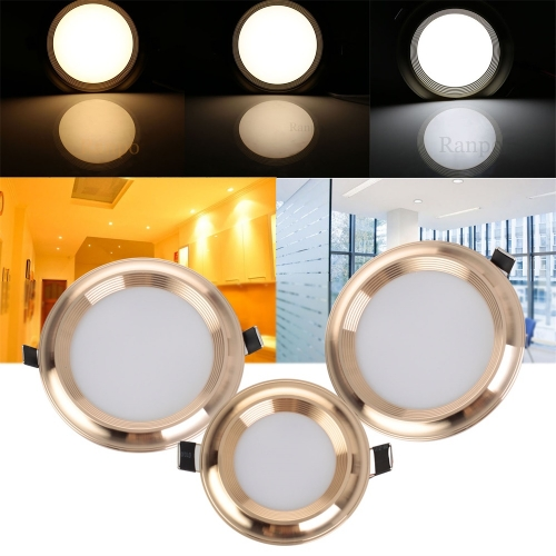 3PCS Ranpo 3W 5W 7W 9W 12W Dimmable Recessed LED Ceiling Light Fixture Downlight Bulb Lamps