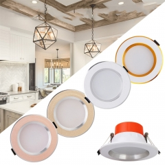 4PCS Ranpo LED Ceiling Downlight 5W Cool Neutral Warm White 110V 220V 50W Equivalent Lamp