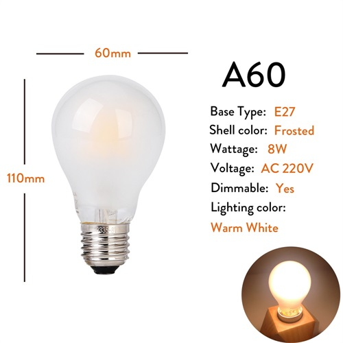E27 A60 Frosted 8W 220V