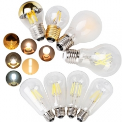 Ranpo 20Pcs Dimmable LED Edison Light Bulbs E26 E27 E12 E14 Filament Lamps 4W 6W 8W 10W