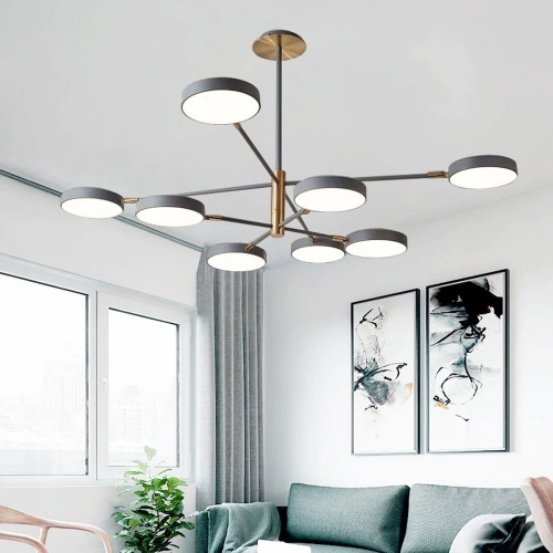 Scandinavian Modern Macaron Living Room Chandelier Minimalist Personality Design Atmospheric Home Bedroom Dining Room Lamps