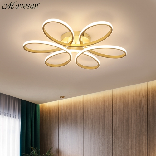 Modern Led Chandelier Lighting Indoor Lamp Remote control lustre chandelier lamp AC90v-260v lampadario ceiling large traditional chandelier style elec