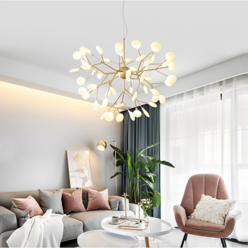 Modern firefly LED Chandelier light stylish tree branch chandelier lamp table gallerie lounge mirror lights recycled ceiling medallions linear pipe