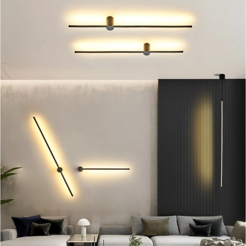 2020 New Modern LED Wall Lamp Long Hanging Lights Simple Line Light Nordic Living Room Sofa Background Wall Light Bedroom Bedside Floor Lamp