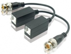 Passive HDTVI HDCVI AHD Transceiver CCTV Twisted BNC 1Channel Video Balun COAX CATS5 /5E /6 Camera UTP Cable