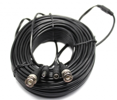 ENSTER 164FT Black All-in-One BNC Video and Power Cable Copper CCTV Cam accessories 1BNC + 1DC to 1BNC + 1DC  for Surveillance CCTV Analog AHD/TVI/CV