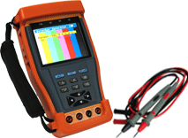 LCD CCTV Tester with Lithium Ion Polymer Battery PTZ Control PTZ Data Analyst Enster