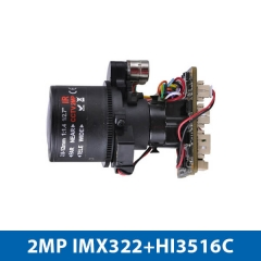4X Zoom IP Camera Module Enster with 2.0 MP H.265 Embedded RTOS DWDR WEB Remote