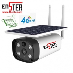 Enster 4G Sim Card Outdoor Solar Camera Wireless Camera With 10800mA Lithium Battery 6w Solar Energy Panel Pir Motion Detection