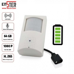 ENSTER WiFi Audio IP Battery Camera PIR H.265/H.264 1080P ICSEE P2P Remote View Support 64GB TF Card Max Security Camera