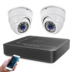 4CH DVR CCTV System 2pcs HD Camera 1080P 2MP 1200 TVl Video Surveillance AHD Dome Camera Kit Security Camera Kit