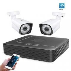 4CH CCTV System 1080P HDMI AHD CCTV DVR 2PCS 1080P 2.0 MP Option IR Outdoor Security Camera AHD Camera Surveillance Kit