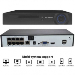 H.265 8CH 5MP  POE Network Video Recorder Surveillance PoE NVR 8Channel For HD 5MP/1080P IP Camera POE 802.3af ONVIF