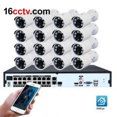 8MP WIFI CCTV System IP POE NVR Set 16CH H.265 Video Surveillance Kit IR Outdoor Security Camera System