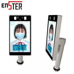 ENSTER 8 Inch LCD Screen Thermal Face Recognition Thermometer AI Smart CCTV Camera Audio Built-in Microphone