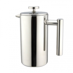 FAMILIFE French Press, Double Wall Stainless Steel, 350ml/12oz