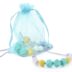 FAMILIFE Teething Necklaces for Mom - BPA Free - FDA Approved - Food Grade Silicone Teether