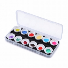Makartt Watercolor Paint Palette Manicure Makeup Palette Drawing Color Painting Glue Palettes Nail Art Tools