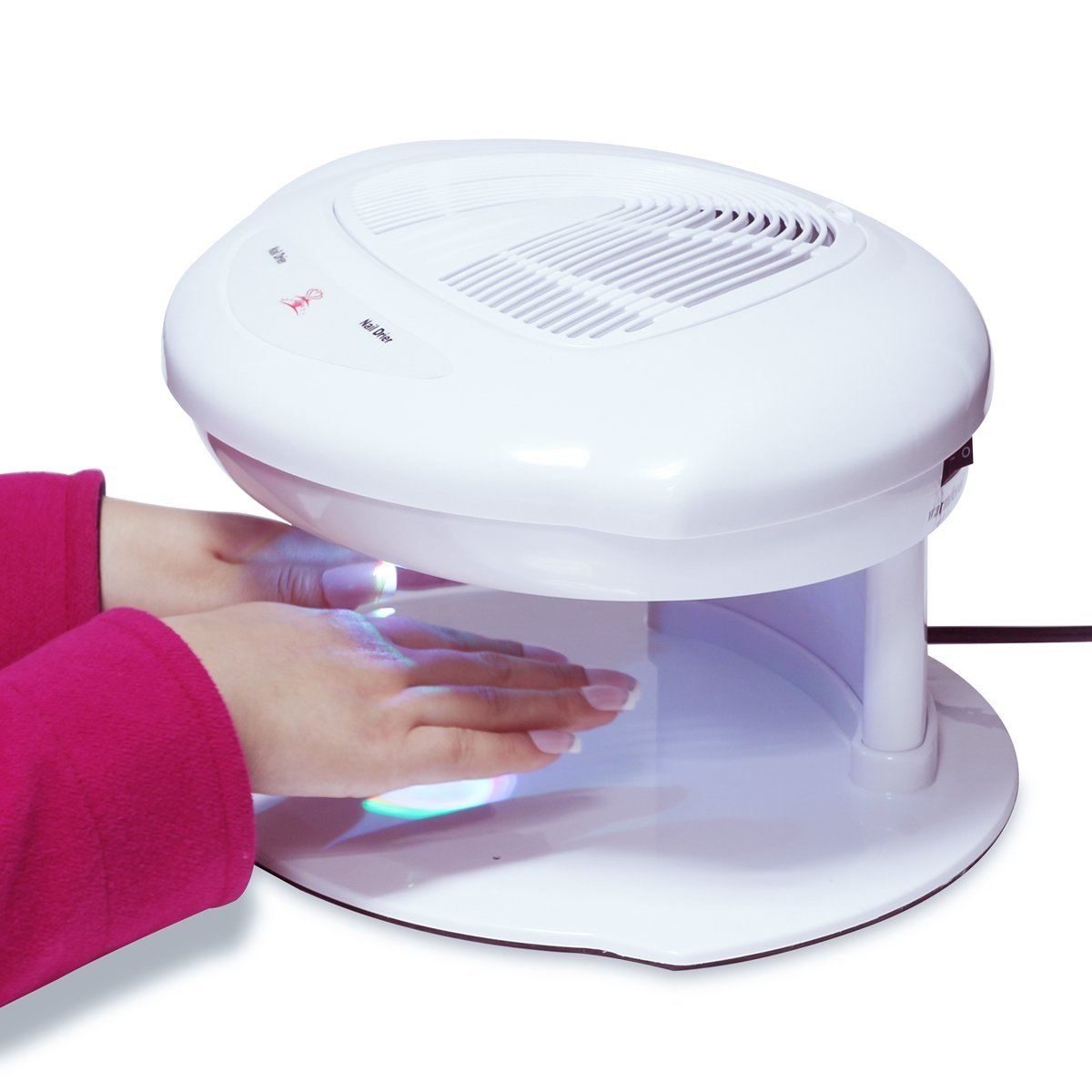 Salon Nail Dryer Machine Both Hands Automatic Sensor Warm Cool ...