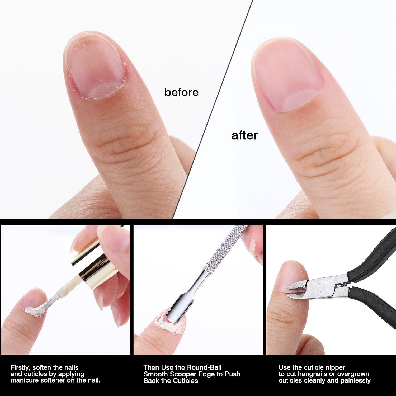 Makartt Cuticle Remover Nipper Cutter Full Jaw Professional Cuticle ...