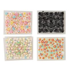 Makartt®50 Sheets 3D Nail Decals Tip Nail Art Sticker Mix Color Self-adhesive Flower Decal Decoration