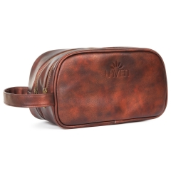 LAVEN LA-02-SR Leather Men Toiletry Bag