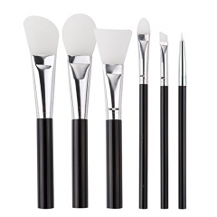 Makartt Silicone Makeup Brushes of 6pcs Multipurpose Eye Shadow Lip Face Mask Brush Set- for BB Cream, CC Cream, Air Cushion, Foundation, Blush
