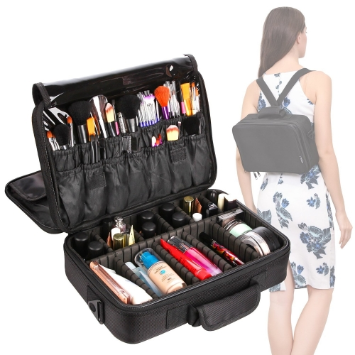 VASKER Portable Professional Makeup Bag Cosmetic Organizer