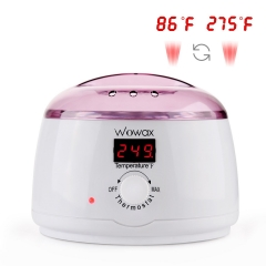WOWAX Wax Warmer, LCD Display 86℉ to 275℉ Hair Removal Wax Heater With 14oz Wax Melting Pot, Purple
