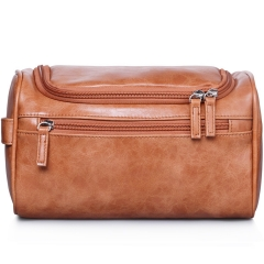 VASKER Travel Hanging Toiletry Bag for Men Waterproof Brown VA-04