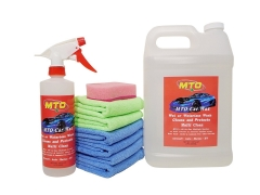 MTO Wet or Waterless Car Wash Wax Kit 144oz. Cleans and Protects Aircraft Quality Wash Waxing for Your Car RV & Boat