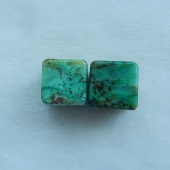 Natural Chrysocolla,  Gemstone  Earring Bead 14x14mm,20.1g