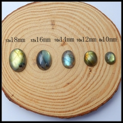 Wholesale Oval Labradorite flatback cabochons for jewelry making,10mm 12mm 14mm 16mm 18mm
