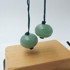 Natural Green Aventurine Round Earrings Beads, stone for earrings making, 16x2mm, 8.8g