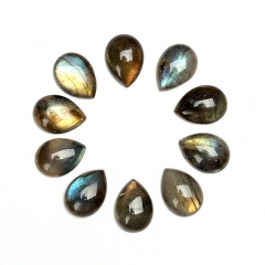 Wholesale 6pcs Teardrop Labradorite flatback cabochons for jewelry making, 10mm 12mm 13mm 15mm