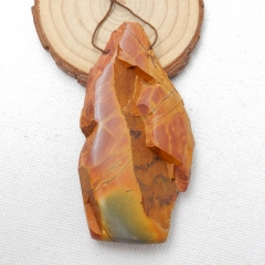 Natural Multi-Color Picasso jasper Gemstone Pendant, Gemstone Rough, 79x40x12mm, 51.7g