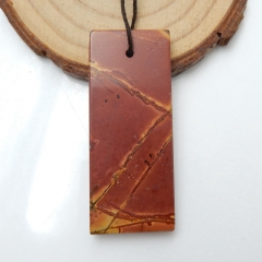 Natural Multi-Color Picasso jasper Gemstone Pendant ,Natural Stone Jewelry, 48x20x5mm, 11.5g