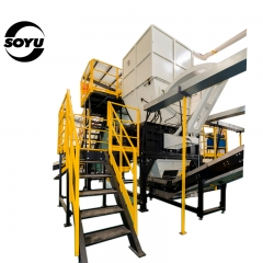 Oil filter crushing&washing&recycling Machine