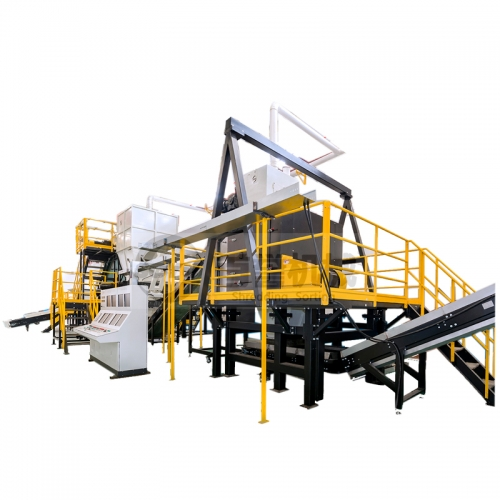 Oil filter&metal drums recycling line in Nanjing China