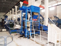Oil filter&metal drums recycling line in Cyprus