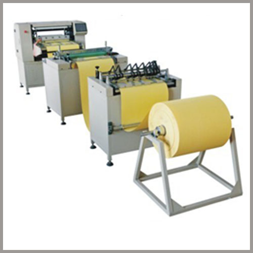 Dust filter cartridge pleating machine/line