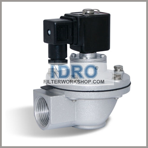 "G1"" Right Angle Pulse Valve- SOLENOID Valve"