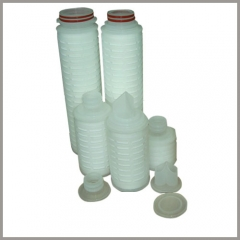 Pleated filter cartridge fitting ends welder