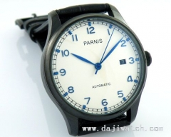 43mm Parnis PVD case Blue number Automatic MECHANICAL Watch