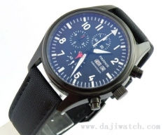 42mm Parnis PVD case black dial WATCH Full chronograph